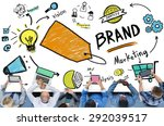 brand branding marketing... | Shutterstock . vector #292039517