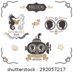 hand drawn wedding invitation... | Shutterstock .eps vector #292057217