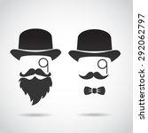 retro gentleman. vector...   Shutterstock .eps vector #292062797