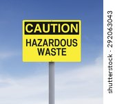 a caution sign indicating... | Shutterstock . vector #292063043