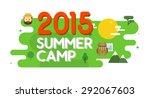 summer camp poster. vector... | Shutterstock .eps vector #292067603