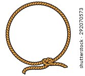 rope border lasso | Shutterstock .eps vector #292070573