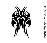 tattoo tribal vector designs.... | Shutterstock .eps vector #292079237