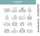 collection of goverment... | Shutterstock .eps vector #292082987
