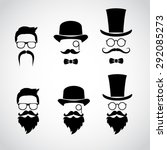 retro gentleman icon set.... | Shutterstock .eps vector #292085273