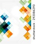 square shape mosaic pattern... | Shutterstock . vector #292086293