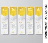 design clean number banners... | Shutterstock .eps vector #292120733
