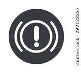 image of alert sign in black...