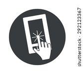 image of hand touching phone...
