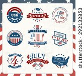 american independence day... | Shutterstock .eps vector #292132853