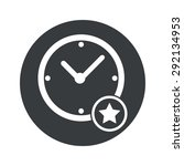 image of clock and star in...
