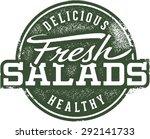 vintage fresh salad menu sign | Shutterstock .eps vector #292141733