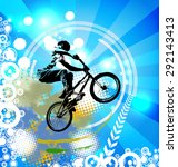 bmx rider. sport illustration | Shutterstock . vector #292143413