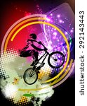 bmx rider. sport illustration | Shutterstock . vector #292143443