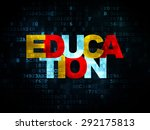 studying concept  pixelated... | Shutterstock . vector #292175813