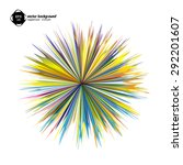 abstract vector background with ... | Shutterstock .eps vector #292201607