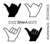 vector surfer's shaka hand sign   Shutterstock .eps vector #292210613