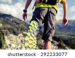 hiking or running man in... | Shutterstock . vector #292233077