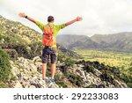 Happy Climber Hiker Winning...