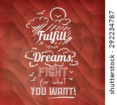 encourage quotes design  over ... | Shutterstock .eps vector #292234787