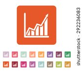 the growing graph icon. growth...