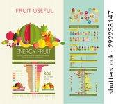 table energy density  calorie ... | Shutterstock .eps vector #292238147
