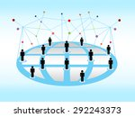abstract network background | Shutterstock . vector #292243373