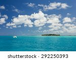 cruise ship sailing along the... | Shutterstock . vector #292250393