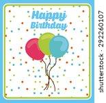 birthday invitation design ... | Shutterstock .eps vector #292260107