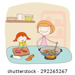 illustration of a mother and... | Shutterstock .eps vector #292265267