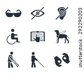 physically disability related ... | Shutterstock . vector #292290203