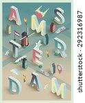 3d Isometric Vector Typographi...