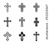 vector crosses icon set on... | Shutterstock .eps vector #292323467