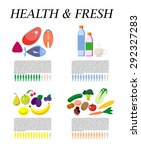 vector set of fresh and health... | Shutterstock .eps vector #292327283