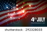 fireworks background for 4th of ... | Shutterstock .eps vector #292328033