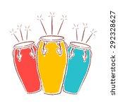 cuban brazilian african conga... | Shutterstock .eps vector #292328627