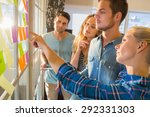 young creative business people... | Shutterstock . vector #292331303