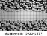 field of gray 3d cubes. 3d... | Shutterstock . vector #292341587
