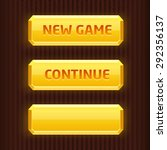 set of gold buttons for game...