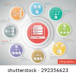 big data networking info... | Shutterstock .eps vector #292356623