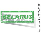 green stamp with name belarus... | Shutterstock .eps vector #292365197