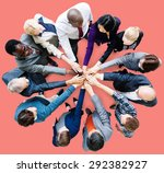 business people cooperation... | Shutterstock . vector #292382927