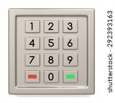 atm machine keypad. numbers... | Shutterstock . vector #292393163