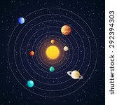 solar system planets with... | Shutterstock .eps vector #292394303