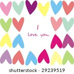 background with heart | Shutterstock . vector #29239519
