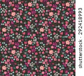 seamless ditsy floral pattern... | Shutterstock .eps vector #292418993