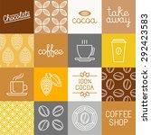 vector chocolate  cocoa and... | Shutterstock .eps vector #292423583