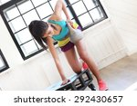 sport. beautiful girl in the gym | Shutterstock . vector #292430657