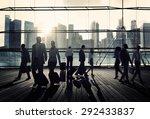 business travel commuter... | Shutterstock . vector #292433837