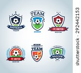 soccer logo. football logo. set ... | Shutterstock .eps vector #292442153